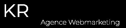 Logo blanc de l'agence web marketing KR PROJECT LYON