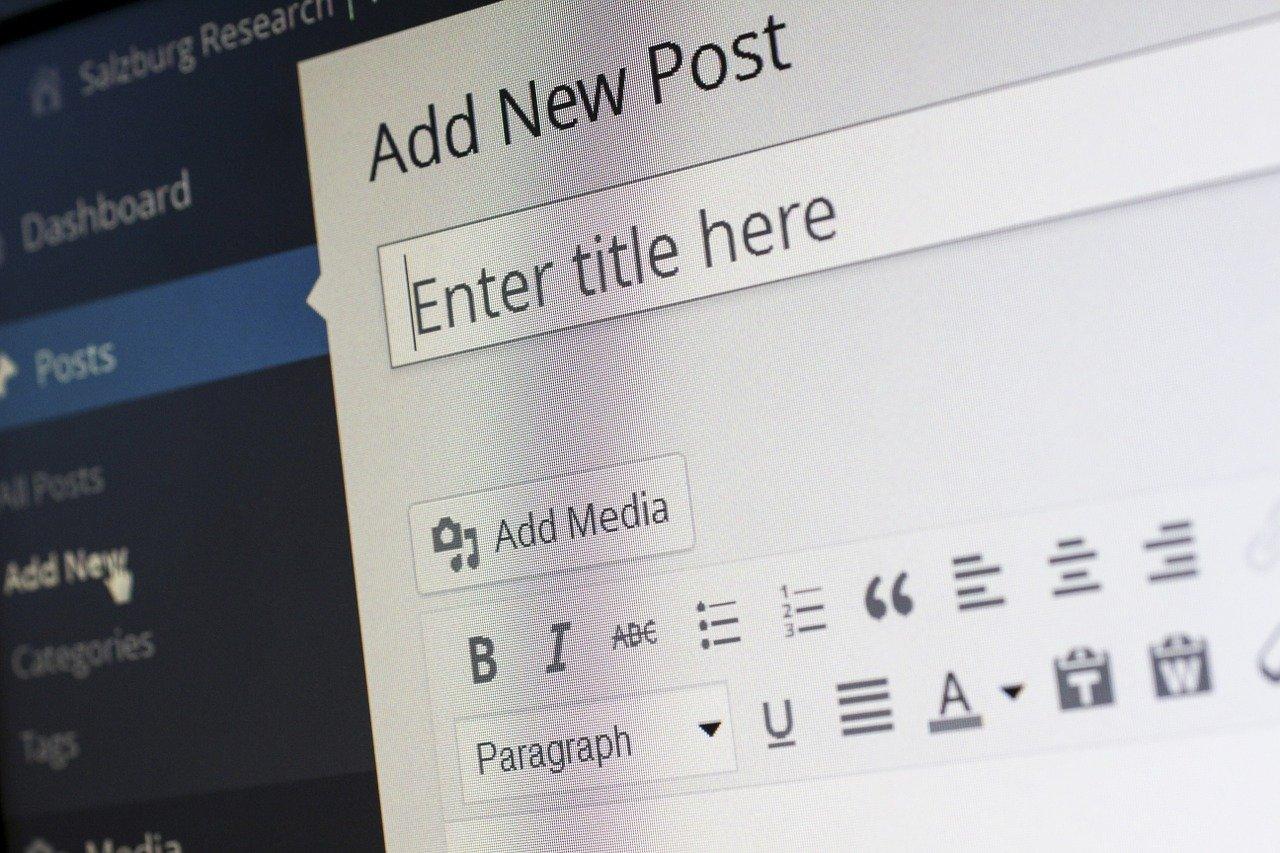 Photo du menu de création d'un article wordpress
